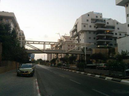 כפר סבא - כביש סובב מונמך לתנועת מכוניות (צילום פרטי)