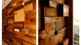 Recycled Wood Wall Austerlitz Architecture
